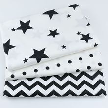 Star Print Child Clothing Fabric Cotton Twill Textile DIY Sewing Craft Home Decoration Material
