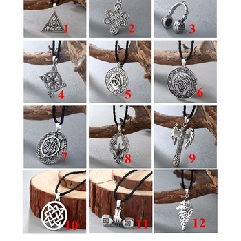 CHENGXUN Egyptian Egypt Pyramid All-Seeing Evil Eye Charm Pendant Men Necklace Geometric Triangle Collier Male  5