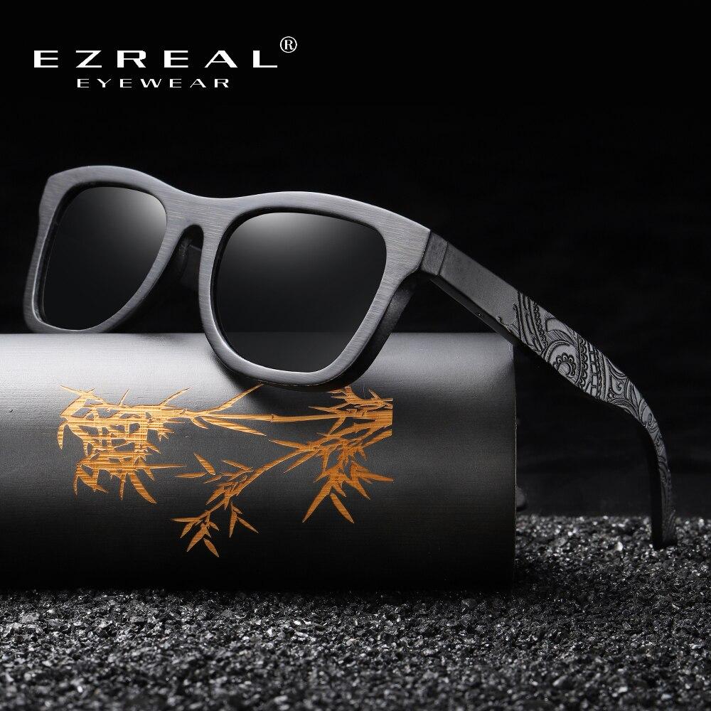 EZREAL Vintage Sunglass Wooden Polarized Women Luxury Brand-Designer Eyewear with Round-Box