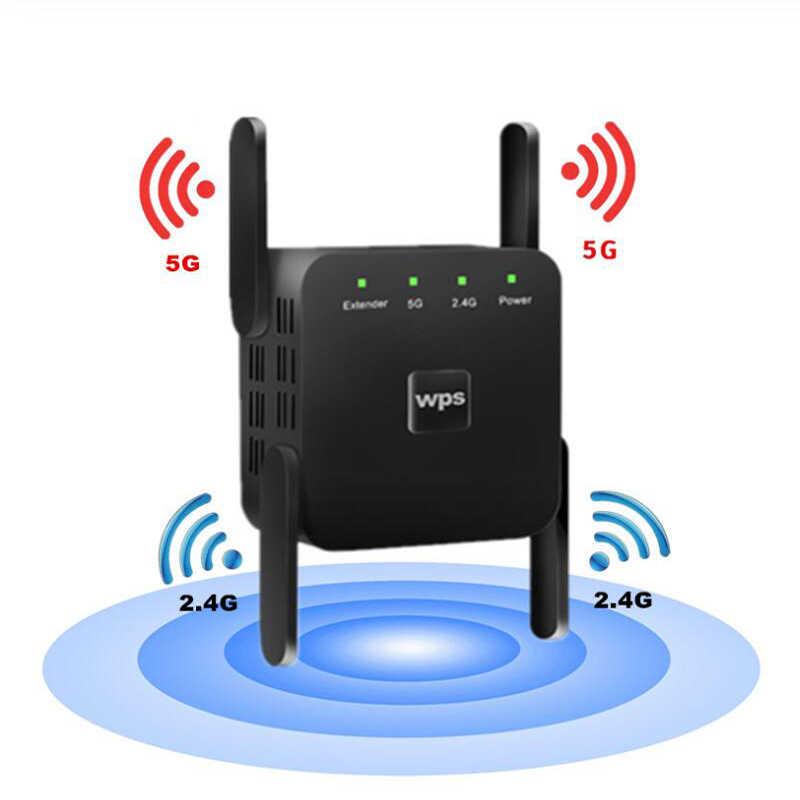 KuWfi bezprzewodowy wzmacniacz sygnału Wifi wzmacniacz sygnału Wi-Fi 2.4G 5G Router AP Wi Fi wzmacniacz 5ghz regenerator sygnału Wi-Fi punkt dostępu