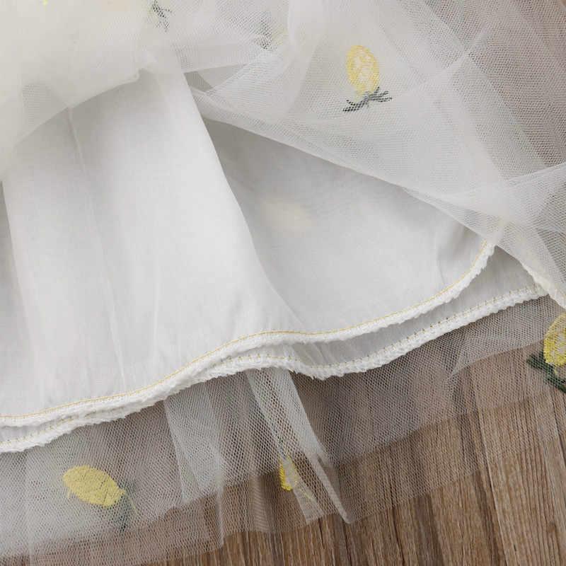 Moda 2 sztuk maluch dzieci śliniaki dla dzieci dziewczyna piękny ananas torba słodkie ubrania księżniczka Tulle Tutu sukienka lato Sundress