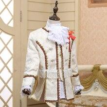 Ретро элегантный темперамент маленький мальчик костюм для суда представление вечерние соревнования драма родитель-ребенок деятельности