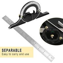Jeu d'outils de mesure, règle universelle 3 en 1 à Angle droit réglable, rapporteur d'angle carré multi-combinaison, 300mm
