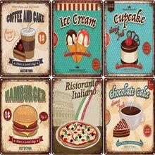 Dulce Donuts pan panadería Metal signos pintura Vintage placa Cafe Bar Pub tienda de dulces decoración de pared arte Carft de cartel