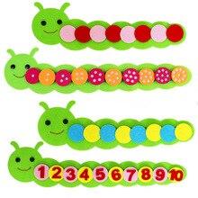 Juguetes educativos juguetes de juego de los niños de Color clasificación enseñanza Manual de jardín de infancia de tejido de tela de Aprendizaje Temprano educación juguetes de los niños