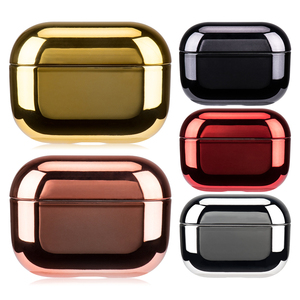 Gold Electroplated Hard PC For AirPods 1 2 3 Case Cover Wireless Headphones Accessories For Airpods Pro Color Earphone Case(China)