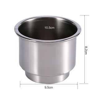 Image 4 - 2Pcs Cup Drink Bottle Holder for Marine Boat RV Camper Silver Color Stainless Steel Car Accessories