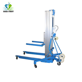 One man telescopic lift elevator and aerial work platform