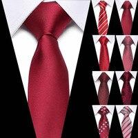 Wedding 7.5cm Red Striped Ties for Men Formal Business Wedding Tie New Classic 100% Silk Men's Ties Neck Ties Wedding Party