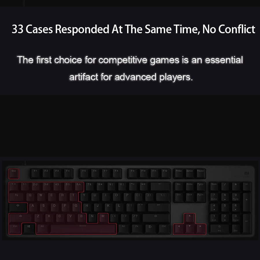 Image 5 - Original Xiaomi Gaming Mechanical Keyboard With RGB Backlight USB 104 Keys Aluminum Alloy Cover Keycaps Keyboard Waterproof-in Keyboards from Computer & Office