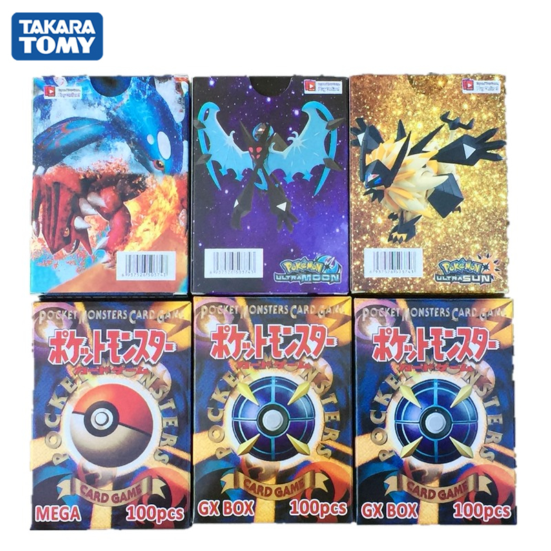 300Pcs/box Pokemon Card 195GX 25MEGA 80EX Shining Collection Trading Cards Game Kids Toys Gift