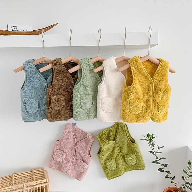 New Autumn Winter Children Vest Fur Baby Waistcoat Kids Light Vest for Girl Boy Toddler Children Clothes Fur Jacket Sleeveless 1
