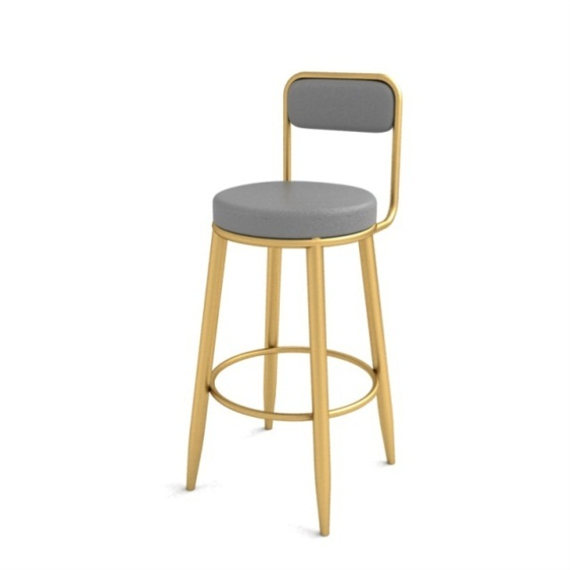 Bar Stool Nordic High Stool Bar Stool Backrest Front Desk Chair Home High Chair Simple Light Luxury Net Red Chair