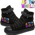 Astroworld Gedruckt High Top Leinwand Schuhe Gemütliche Turnschuhe