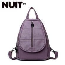 New Vintage Leather Backpacks Female Travel Shoulder School Bag Preppy Bagpack Ladies Sac A Dos Women Backpack High Quality