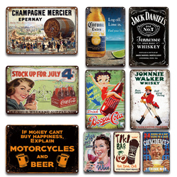 Boppo Cola – affiche Vintage à collectionner, en métal étain, drôle, bière, whisky, en étain, Plaques décoratives pour la maison