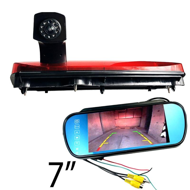 CCD HD Car Brake Light Backup Camera For Ford Transit Connect 2014-2017 Rear View Parking Camera Car Monitor Kit