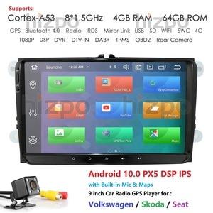 Image 1 - Car Multimedia Player Android 10 GPS 2 Din For VW/Golf/Tiguan/Skoda/Fabia/Rapid/Seat/Leon Canbus Automotivo NODVD Radio DSP CAM