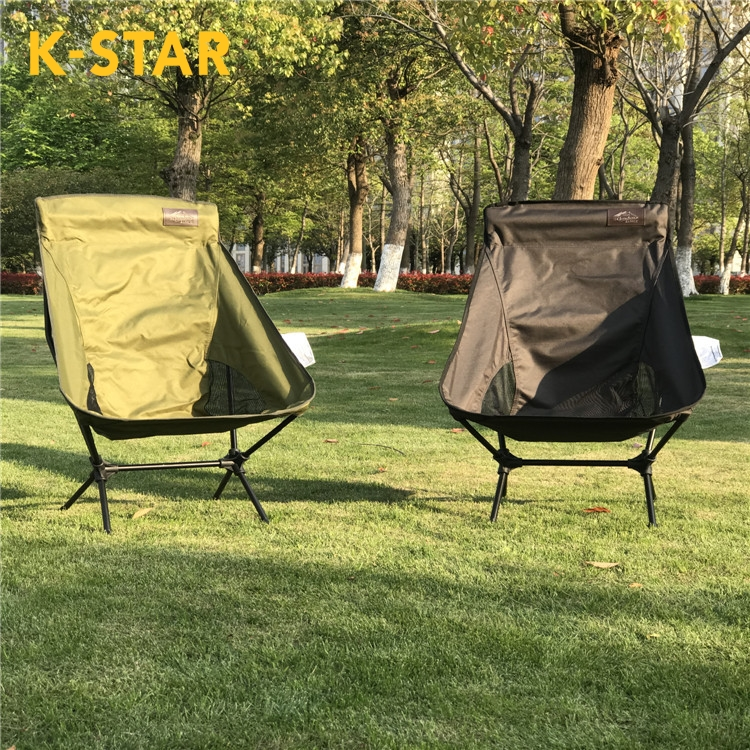 K-STAR Large Outdoor Moon Chair with Pillow Portable Deck Chair Camping Casual Beach Fishing Chair Dropshipping