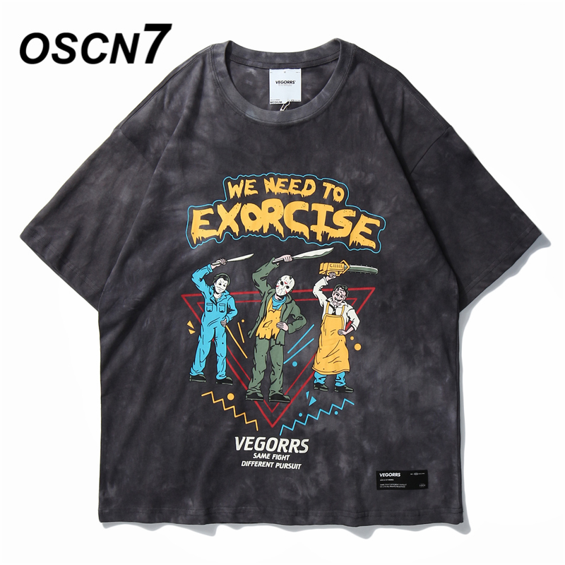 OSCN7 Retro Men's T-Shirts 2020 Funny Short Sleeve Tshirts Summer Hip Hop Casual Fashion Women Top Tee Streetwear T291