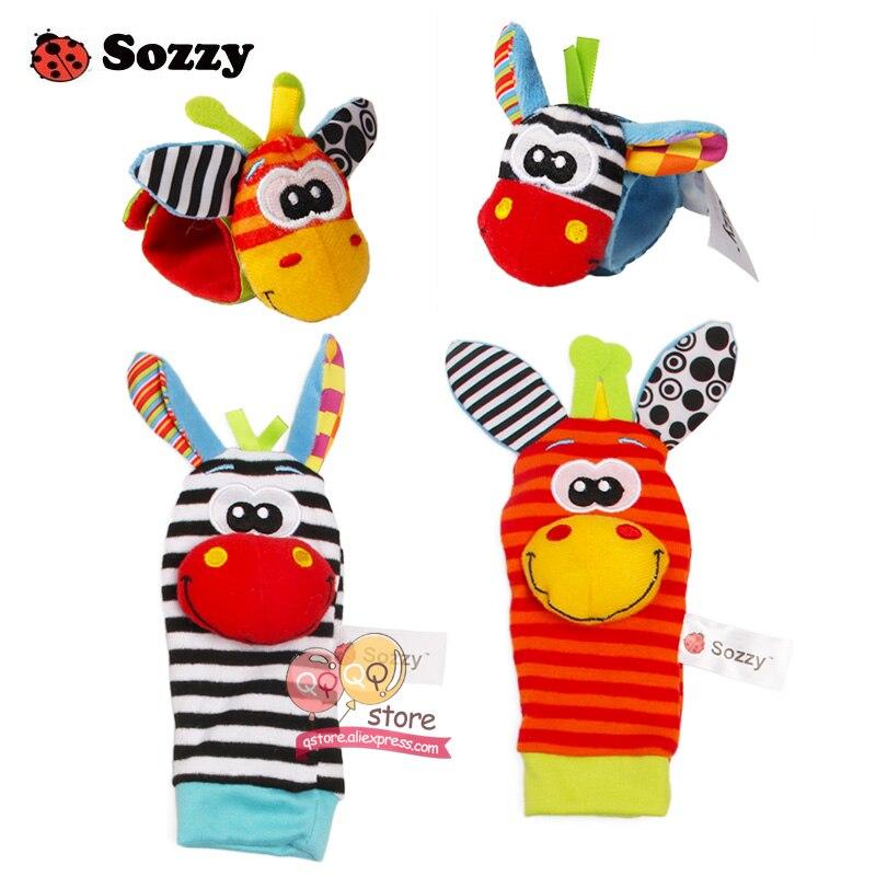 Sozzy bebe zveckaju mekanim plišanim igračkama četverodelne - Igračke za bebe i malu djecu - Foto 3