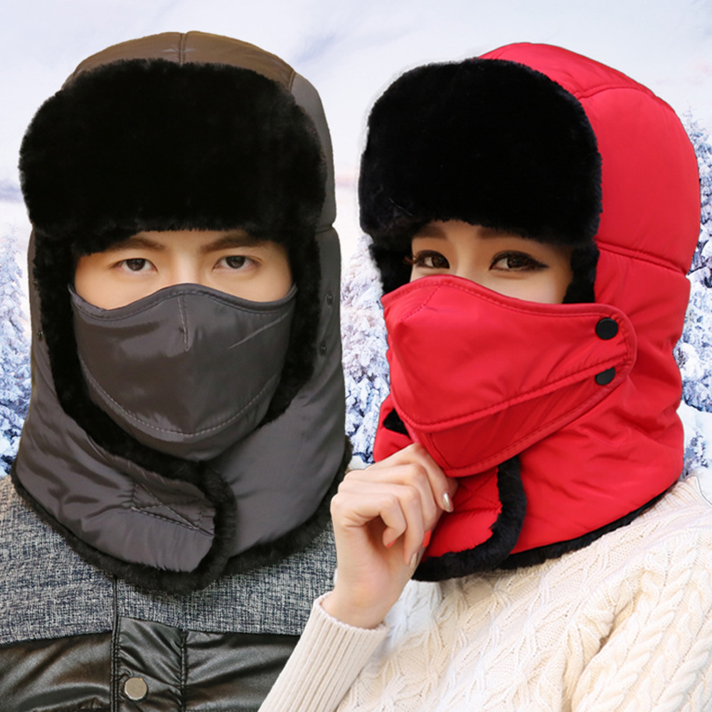 Ski Cold Cap Winter Warm Hat Windbreak Thickened Scarf Motorcycle Mask Hood Keeping Hat Windproof Skiing Hats