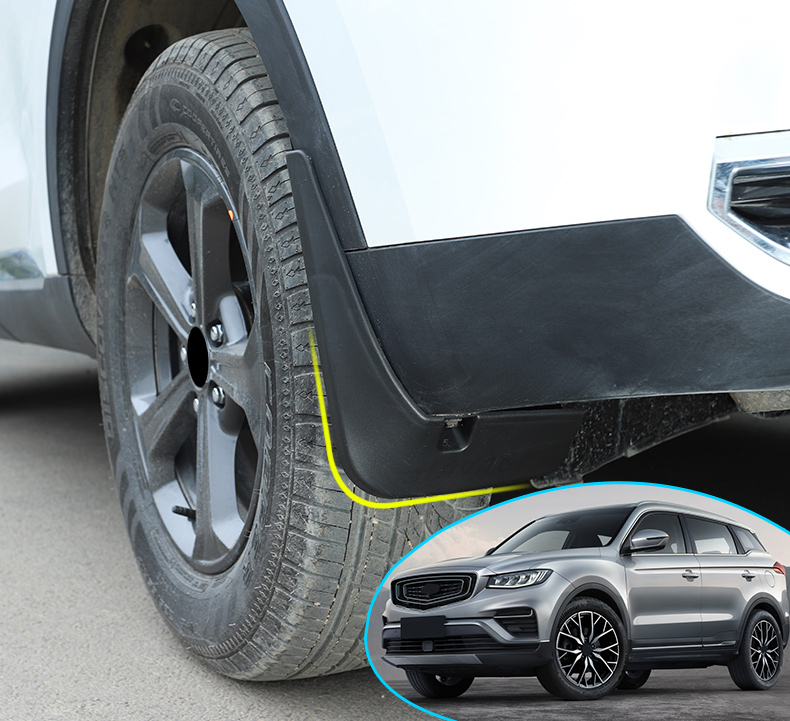 For <font><b>Geely</b></font> <font><b>Atlas</b></font> 2016-2019 Car Mud Flaps Front Rear Mudguards Splash Guards Fender Mud flaps Auto Accessories styling protection image