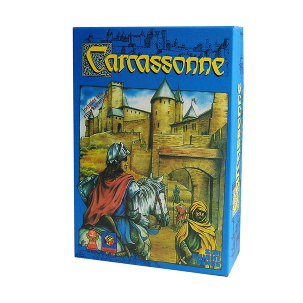Classical Carcassonne Board Game 2-5 Players Card Game For Party Family Friends Strategy Games Tile Placement Game Free Shipping