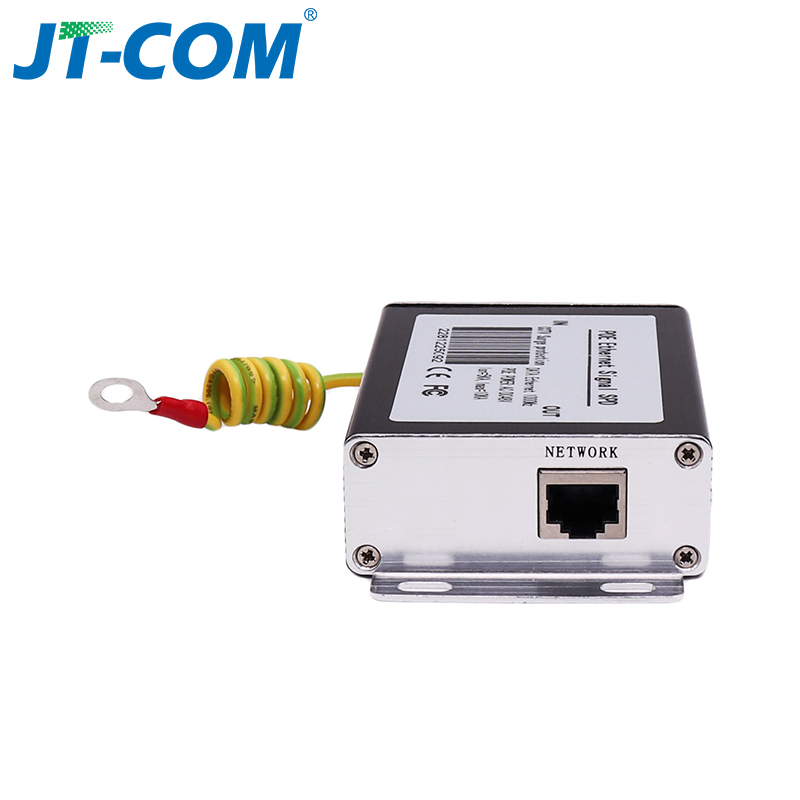 100M POE Ethernet Network Surge Protector Lightning Arrester Network RJ45 POE IP Camera Protector title=