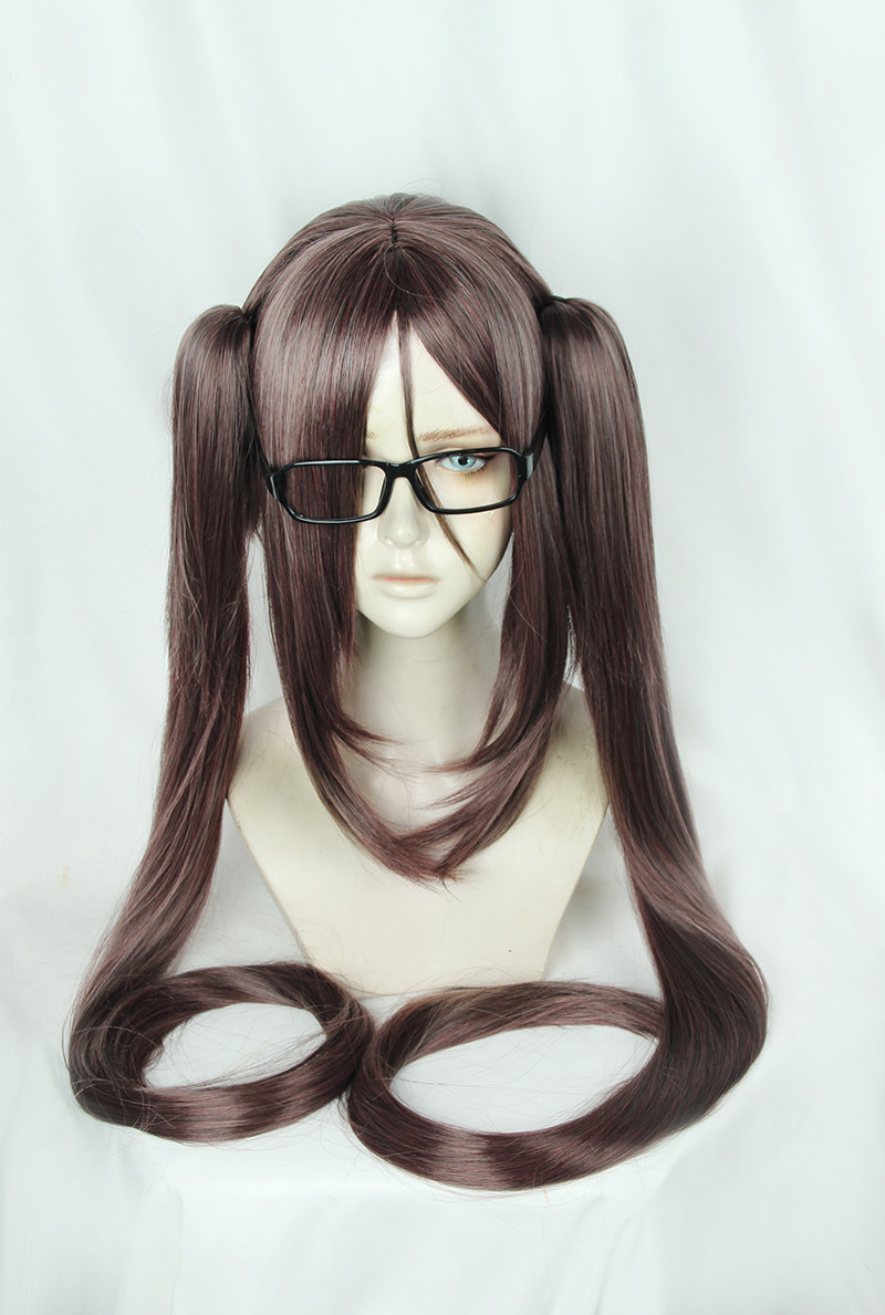 Fate/Stay Night Akuta Hinako Two Ponytails Wig Cosplay Costume Fate Grand Order Women Long Hair Halloween Costume Wig +Cap+Track image