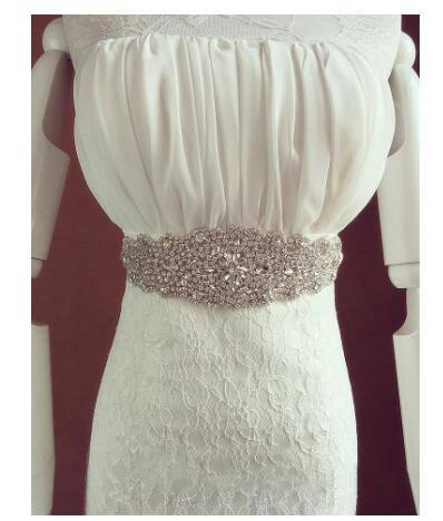 Womens Rhinestone Handmade Belt Wedding Dress Accessories Marriage Bridal Sashes Wedding Party Bride Belts Jewelry Gifts