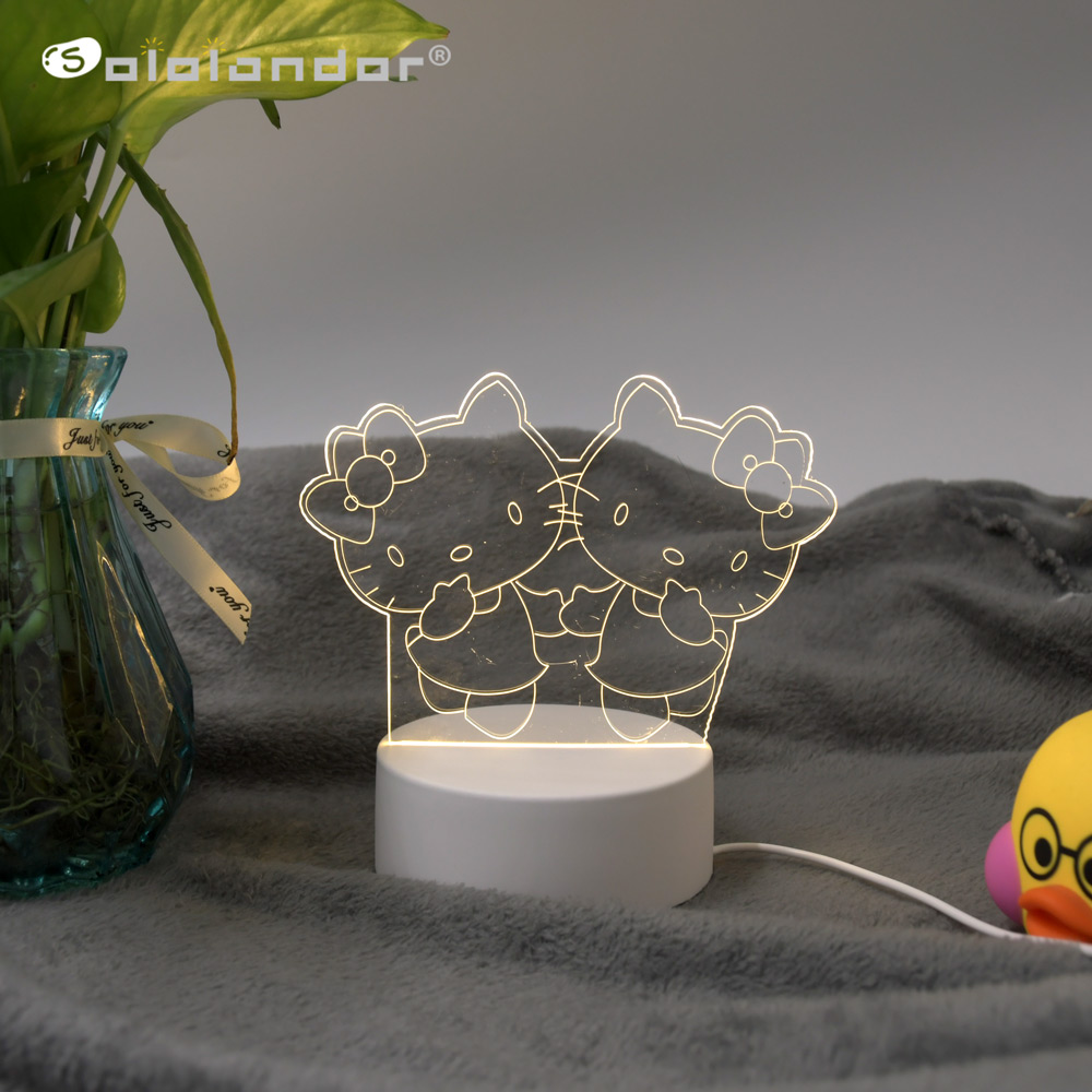 SOLOLANDOR 3D LED Lamp Creative 3D LED Night Lights Novelty Illusion Night Lamp 3D Illusion Table Lamp For Home Decorative Light
