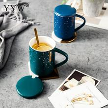Creative Coffee Mug Lid And Spoon Large Capacity Water Mugs Drinkware Cups Novelty Gifts Milk Cup Ornaments