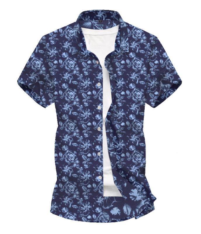 Summer New Men' S Hawaii Shirt  Short Sleeve Shirt Men