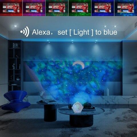 controle de aplicativo inteligente ceu estrelado luz
