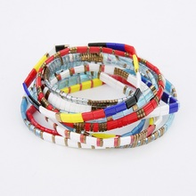 SHINUSBOHO 3Pcs/set Mix Tila Beads Square Bracelets for Women MIYUKI Pulseras Friendship Bracelet Men Fashion Jewelry Mujer