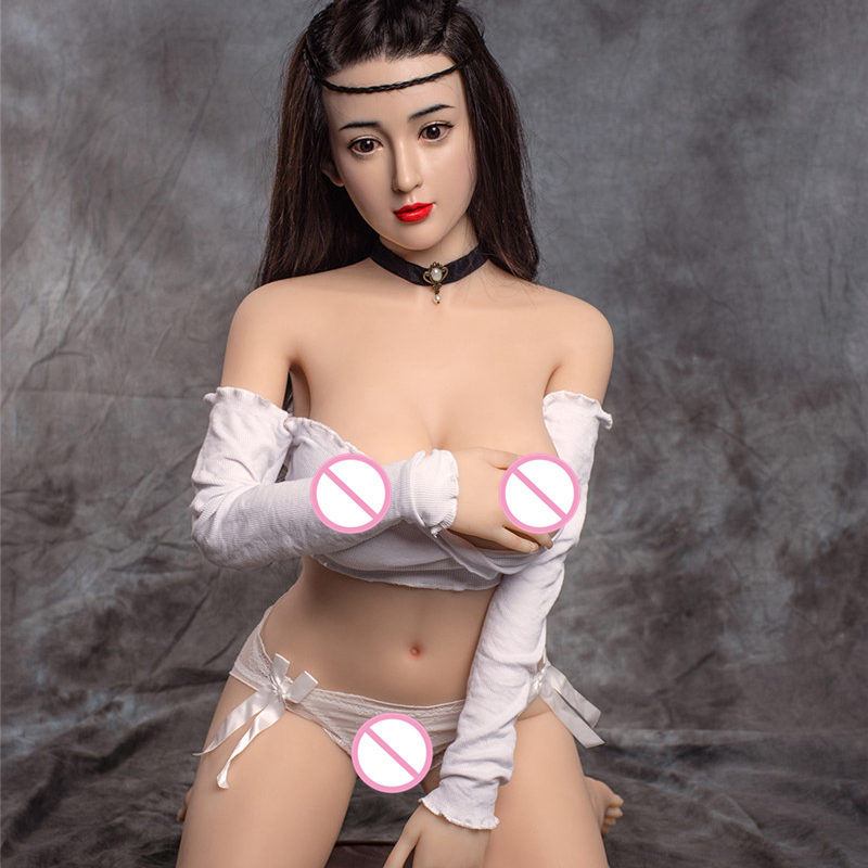 <font><b>155cm</b></font> Silicone Sexy <font><b>Dolls</b></font> Asian Face Big Breast <font><b>Sex</b></font> <font><b>Doll</b></font> Silicone Head With Implanted Hair <font><b>TPE</b></font> Body Life Size <font><b>Sex</b></font> Toy image