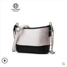ouluoer  new crocodile skin belly bag women chain Leather lady bucket slung across one shoulder handbag