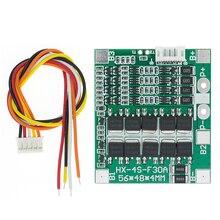 Orijinal 4S 30A 14.8V Li ion lityum 18650 pil BMS paketleri PCB koruma levhası dengesi entegre devreler kablo ile