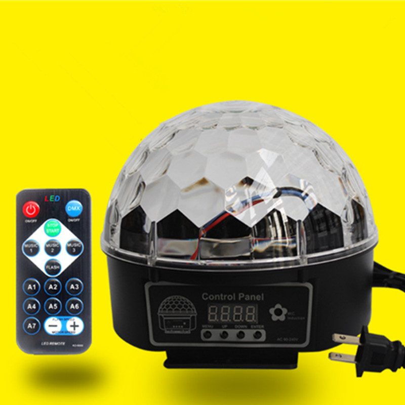 9w Crystal Magic Ball Led Stage Lamp 21 Disco Mode Party Lights DMX Laser Sound Control Laser Light Lumiere
