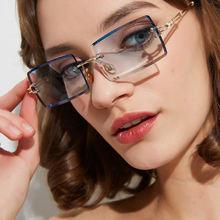 2020 маленькие женские солнцезащитные очки без оправы Летние