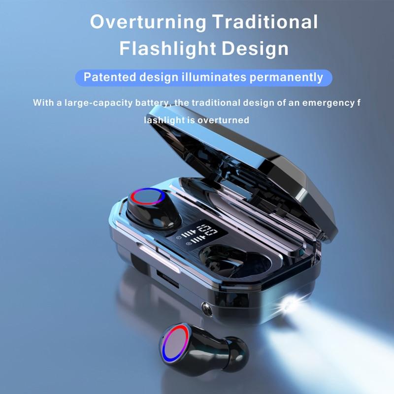 Brezžične bluetooth slušalke z mikrofonom imajo športne - Prenosni avdio in video - Fotografija 5