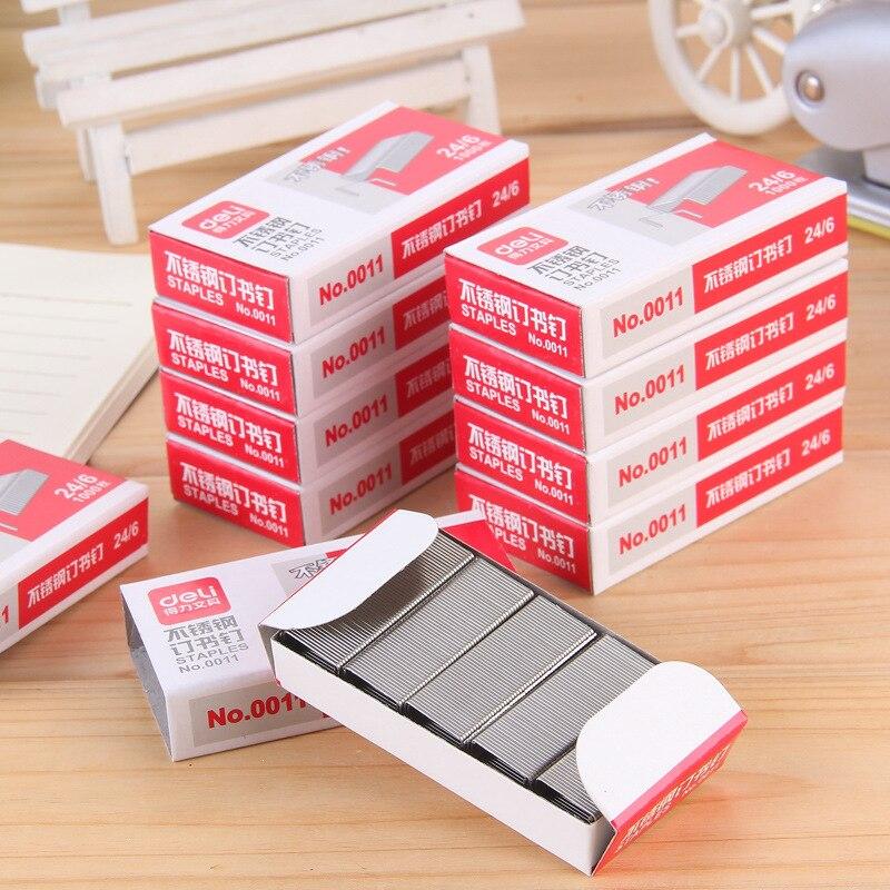 Deli 0011 скобы 24/6 скобы из нержавеющей стали/скобы могут заказать 25 штук бумаги