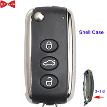 KEYECU for Bentley Continental Flying Spur GT GTC Smart Remote Key Shell Case Fob for KR55WK45032, 3W0 959 753 BJ