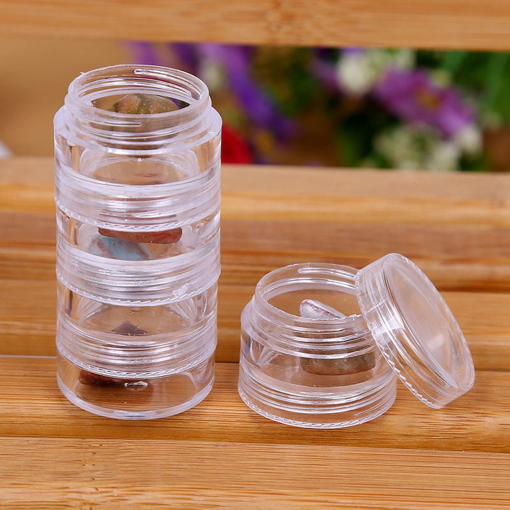 Rotatable Cosmetic Organizer Store Qtip Container Transparent Small Swabs Box Jewelry Storage Box Holder and Candy Jars in Bottles Jars Boxes from Home Garden