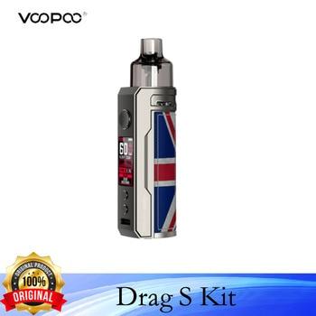 VOOPOO – cigarette électronique Drag S Pod Mod, Kit de Vape, 60W, cartouche 4.5ml, batterie 2500mAh avec vaporisateur à bobine VS Drag X