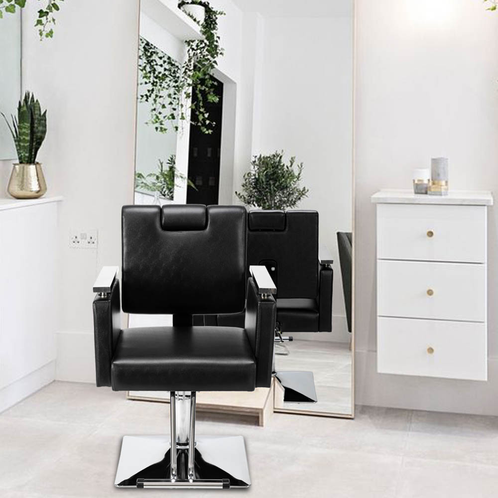 Парикмахерское кресло квадратное основание мягкая ПВХ кожаная поверхность универсальная Парикмахерская мебель для парикмахерских мест к