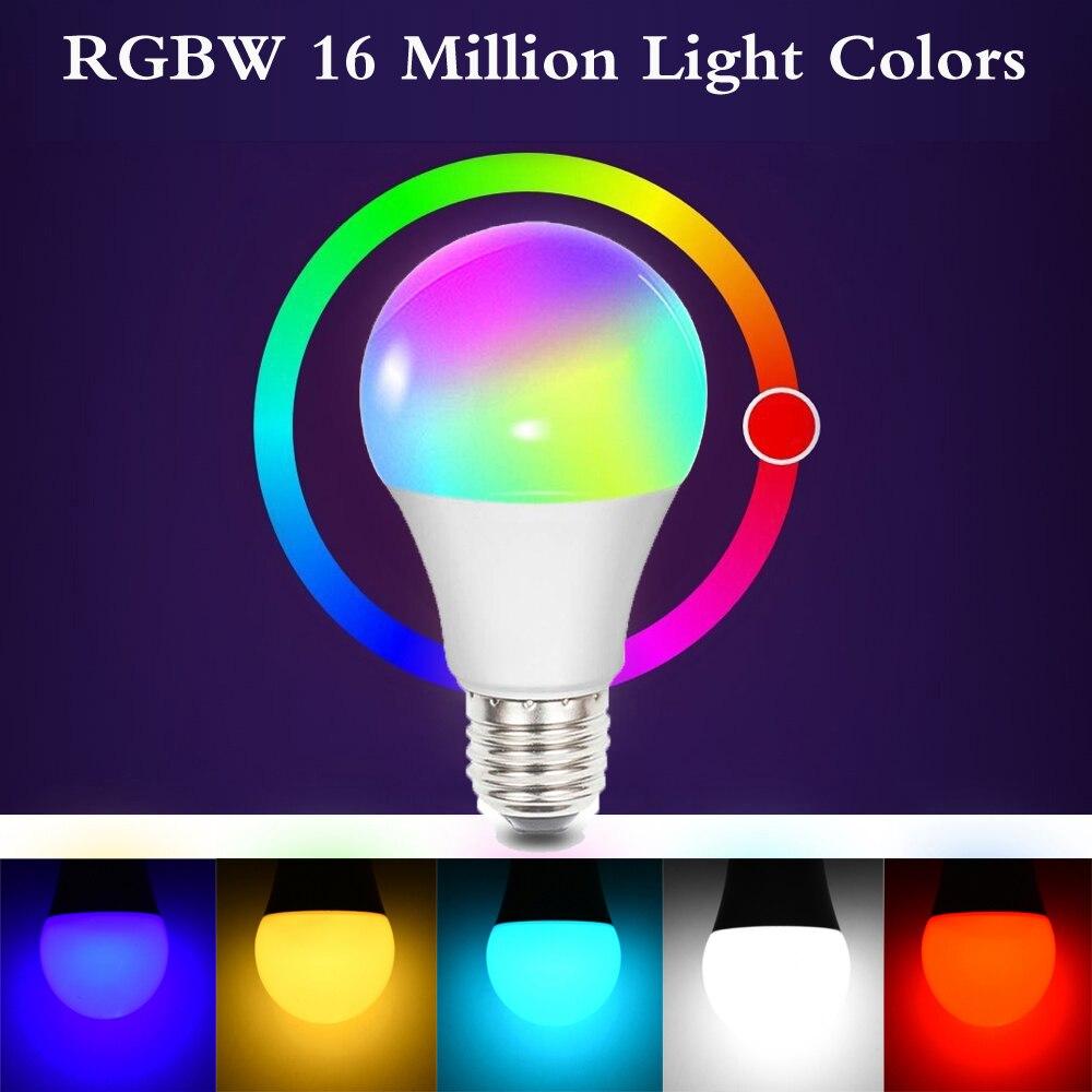 LED Bulb LED Lamp LED Light Bulb Party Bar Decoration Bedroom Home Wireless APP Control RGBW 10W E27 Smart Super Bright Durable