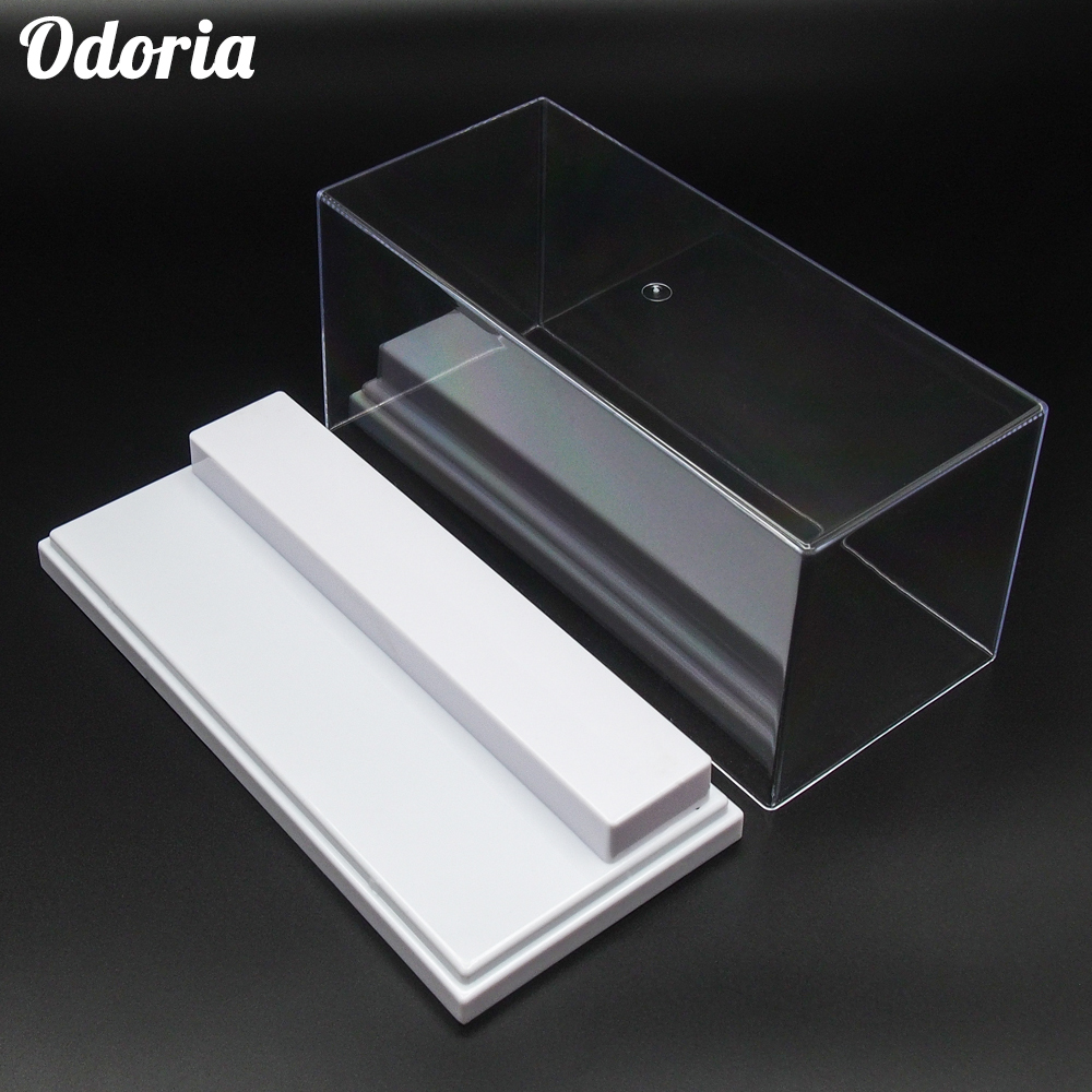Odoria 19.5x8.5x8.5 cm Acrylic Display Case 2 Step Box Perspex ShowCase Dustproof For Action Figure Model Cars Collectiblescase casedisplay showcasedisplay box case -