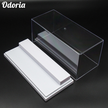 Odoria 19.5x8.5x8.5 cm Acrylic Display Case 2 Step Box Perspex ShowCase Dustproof For Action Figure Model Cars Collectibles